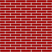 red brick wall graphic - stock illustration