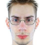Symmetrical face Stock Photos
