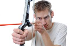 bow and arrow archery - stock photo