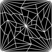 abstract computer generated background illustration of a cracked spider web - stock illustration