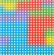 circular pattern against colorful blurry bold background of basic colors - stock illustration