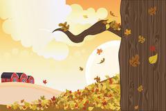 autumn season - stock illustration