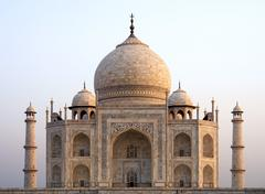 Overview of the Taj Mahal - stock photo