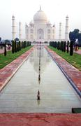 Overview of the Taj Mahal and garden Stock Photos