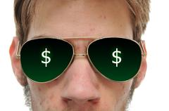 Close up of man with aviator sunglasses Stock Photos