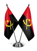 Angola - Miniature Flags. - stock illustration