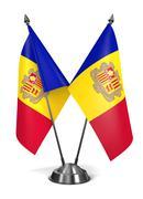 Andorra- Miniature Flags. Stock Illustration