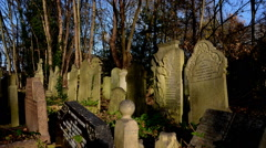 Graveyard. Cemetery time-lapse. London Stock Footage
