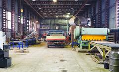 Stock Photo of interior of storehouse and mechanical workshop