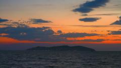 Princes islands at sunset, timelapse Stock Footage