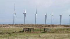 Windmills turning Stock Footage