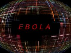 Ebola virus epidemic concept.digitally generated image. Stock Illustration