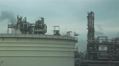 Refinery oil in slow motion Stock Footage