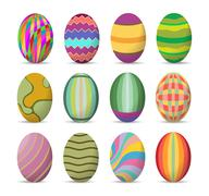Easter eggs and happy easter Stock Illustration