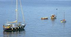 PIRAN, SLOVENIA: Yachts and boats near Piran in Slovenia Stock Footage