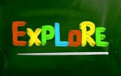 Explore Concept - stock illustration