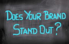Does Your Brand Stand Out Stock Illustration