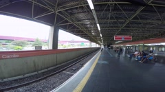 Time Lapse of Carrao Station on East Side in São Paulo, Brazil Stock Footage