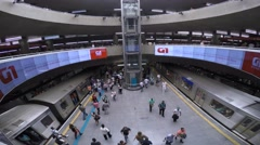 Time Lapse of the Famous Station Se in São Paulo, Brazil Stock Footage