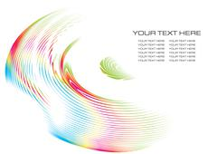 abstract fractal background with space for text, vector illustration - stock illustration