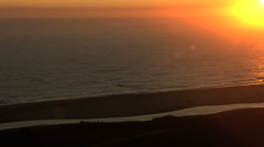 Stock Video Footage of Aerial USA California sunset coastline Bay vacation Pacific ocean