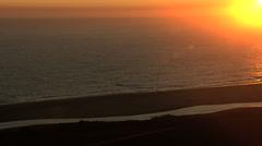 Aerial USA California sunset coastline Bay vacation Pacific ocean - stock footage