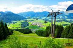 Alps cableway - stock photo