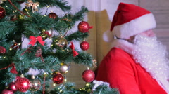 Stock Video Footage of Santa Claus Christmas Tree HD