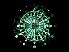 Astrology Dial - stock illustration
