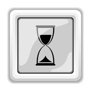Hourglass icon. internet button on white background.. Stock Illustration