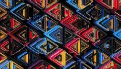 Neon Pattern 002 B Alternate Random GTC 4K Stock Footage