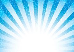 Blue sunburst abstract background, vector illustration Stock Illustration