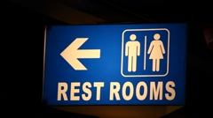 Toilets Sign. Part of a series Stock Footage