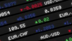 Stock market board moving hd animation stock video Stock Footage