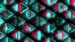 Stock Video Footage of Neon Pattern 002 B Alternate Strength TC 1080p