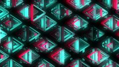 Neon Pattern 002 B Alternate Strength TC 4K Stock Footage