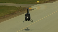 Aerials California USA Aerials helicopter airport aviation Stock Footage