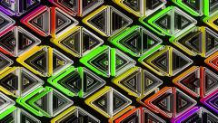 Neon Pattern 002 B Alternate Wave GSC 4K - stock footage