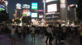 Shibuya, Tokyo Night Scene. Fashion center of Japan. Nightlife area Footage