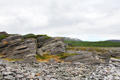 Geological rock layers Stock Photos
