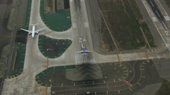 Aerials California USA Aerials LAX Los Angeles airport - stock footage