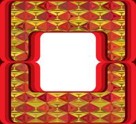 60s styled frame with diamond ornament Stock Illustration