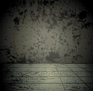 Concrete grunge room Piirros