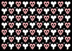 Stock Illustration of Emo gothic valentine wrapper