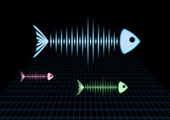 Sonar fishes Stock Illustration