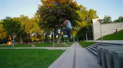 Parkour Jump At Paris Stock Footage