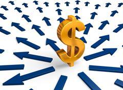 Cash flow Stock Illustration