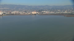 Aerial Francisco Bay hotel Interstate 80 Emeryville USA Stock Footage