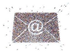 Symbolizing the e-mail . - stock illustration