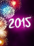 Firework 2015 happy new year Stock Illustration